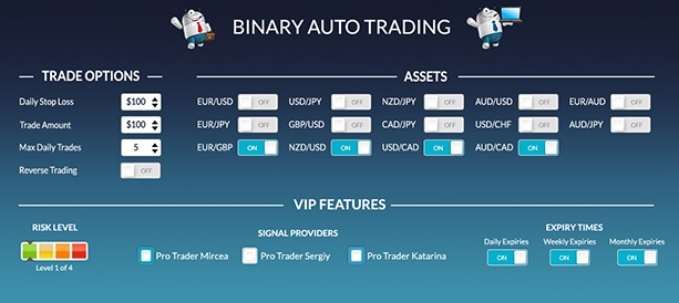 auto trade system binary options