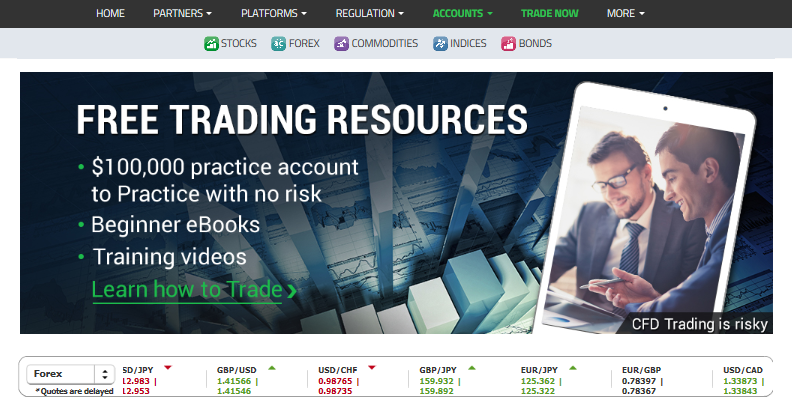 stock main page
