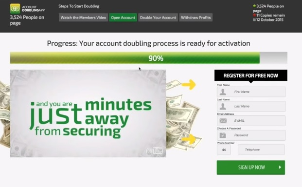 Binary option doubling strategy