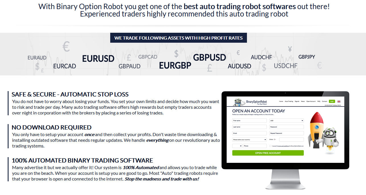 Best settings for binary options robot