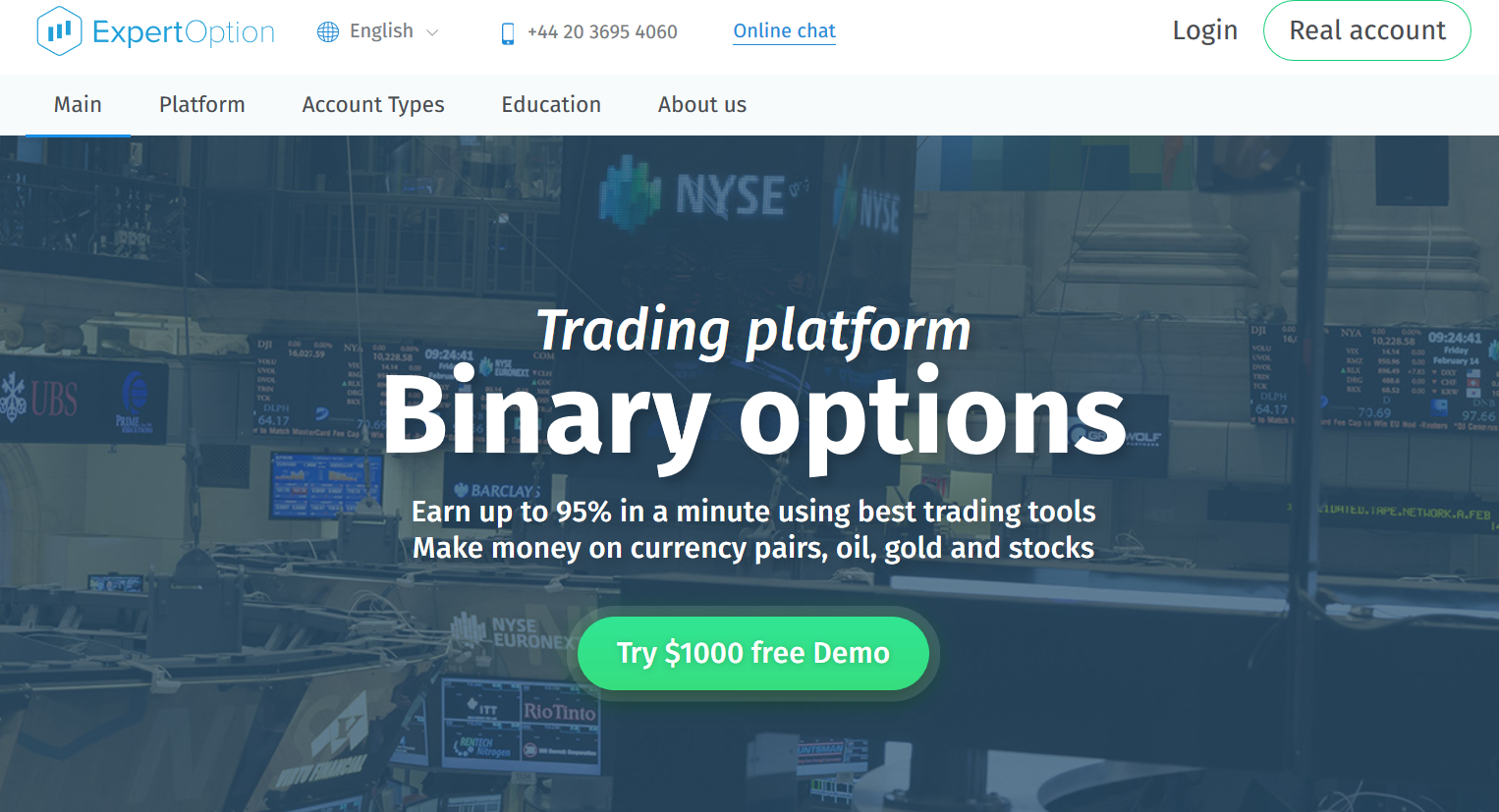 Binary options stocks