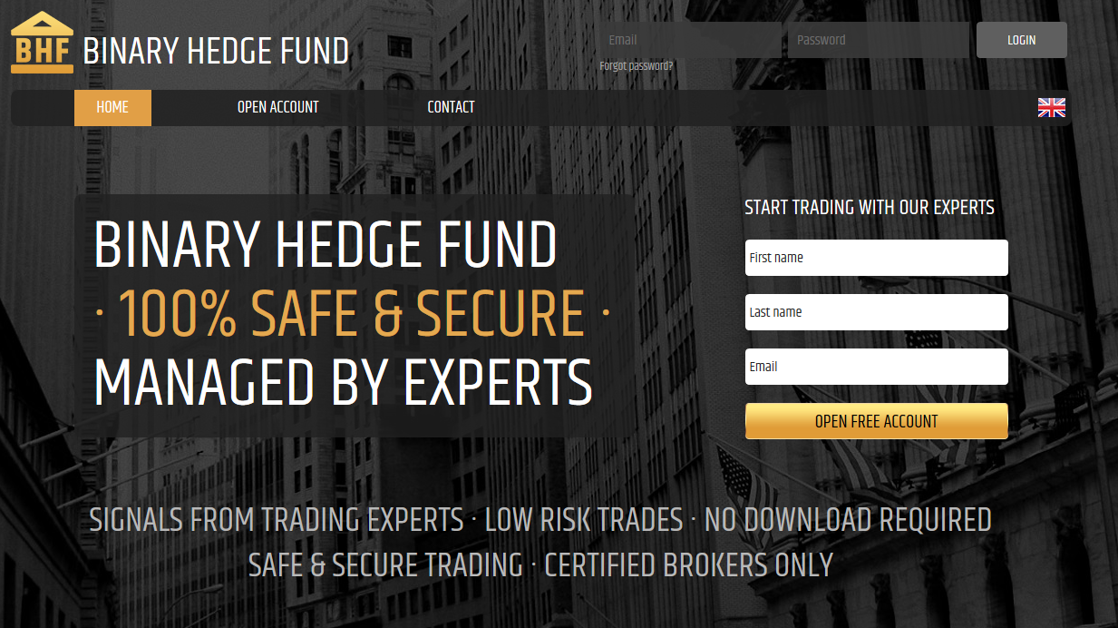 Hedging binary options trading