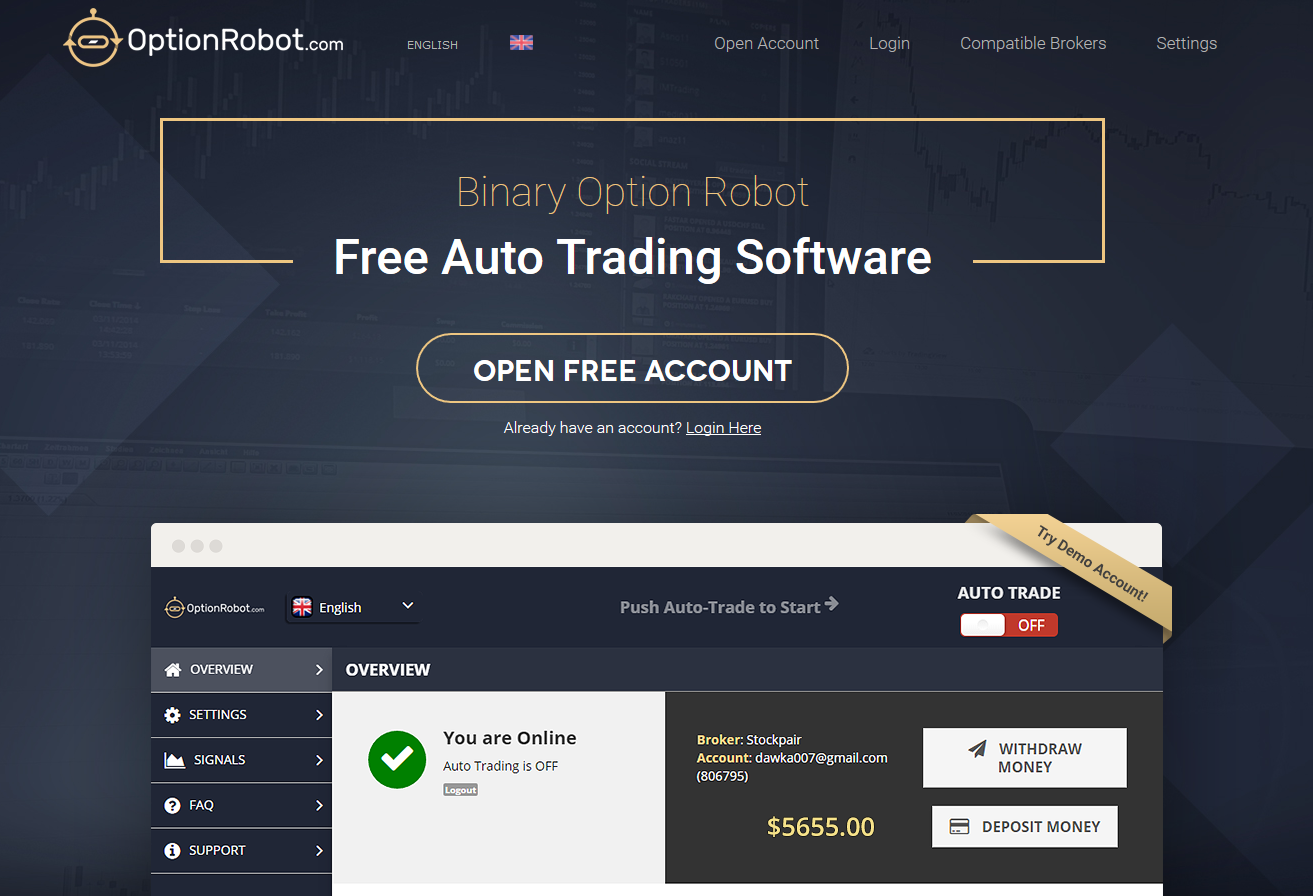 Binary options trading software free download