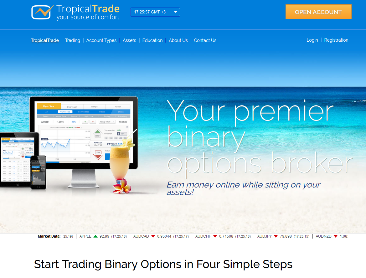 tropical trade main page