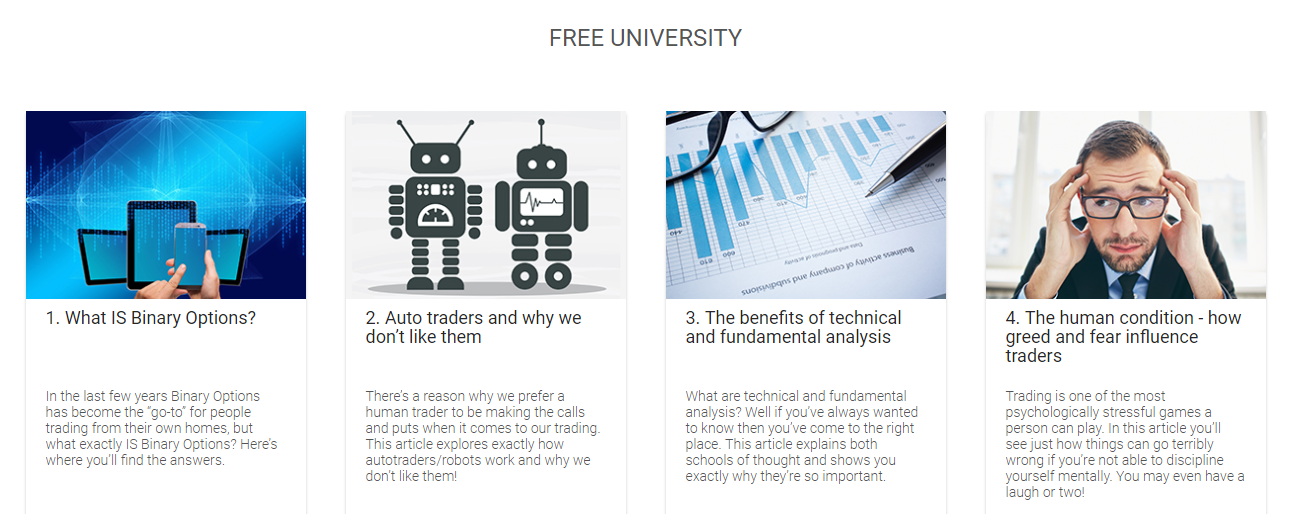 Binary options education free