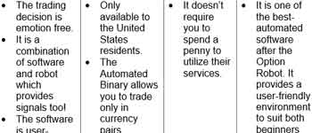 Automated binary software table
