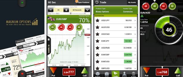 You can trade on the go with Magnum Options mobile app.