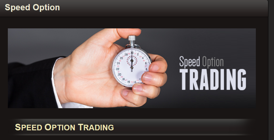 BigOption Speed Trading