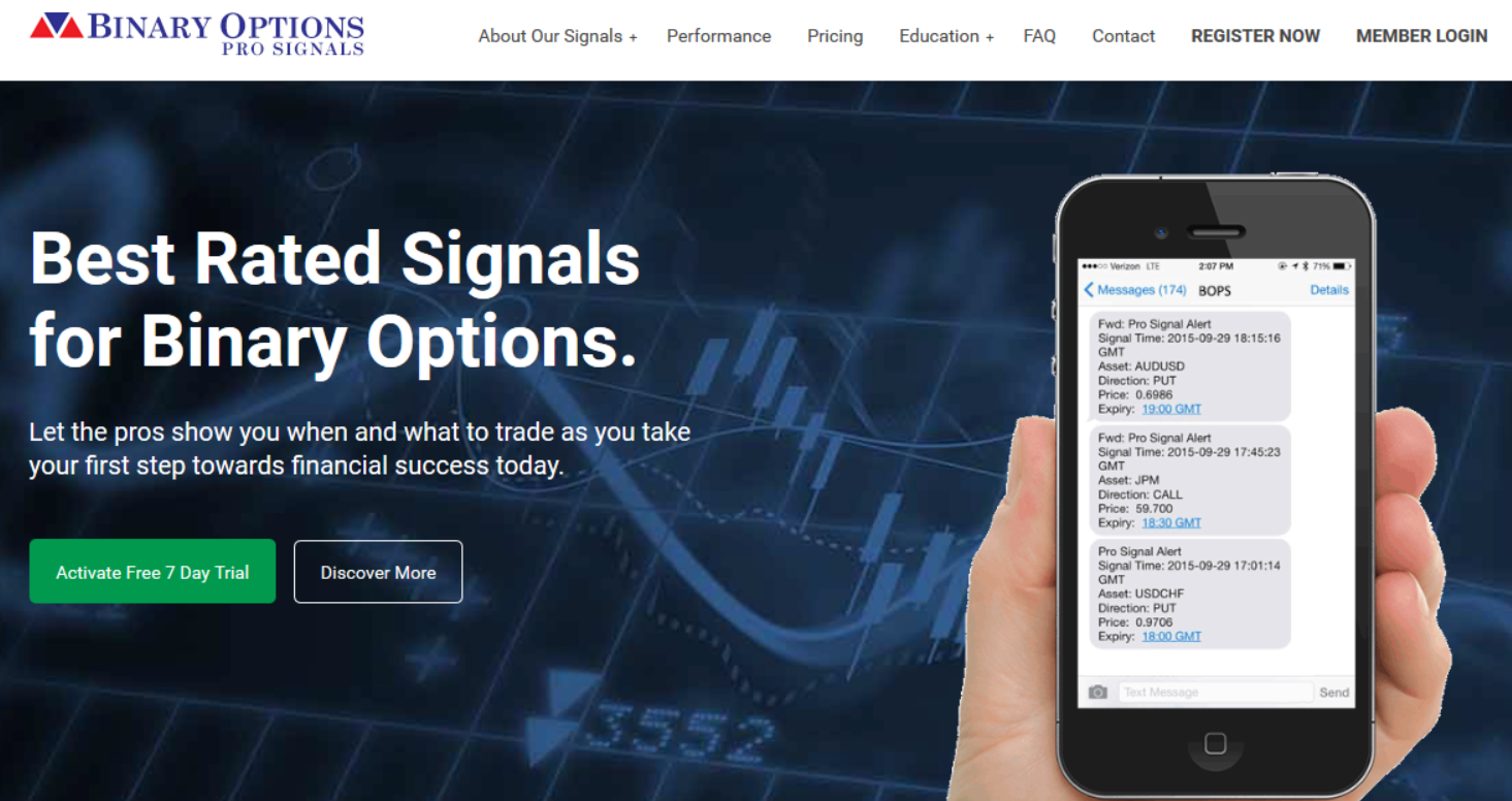 What is the best binary options signal service