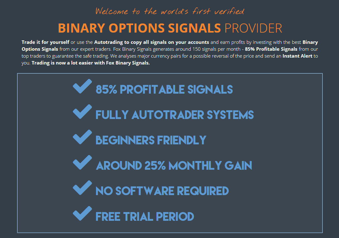 Binary options software provider